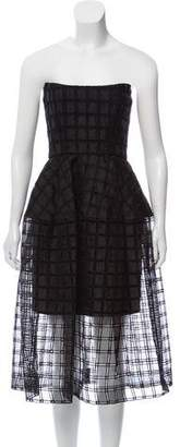 Nicholas Semi-Sheer Strapless Dress