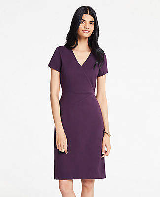 Ann Taylor The Petite All-Day Ponte Dress in Colorblock