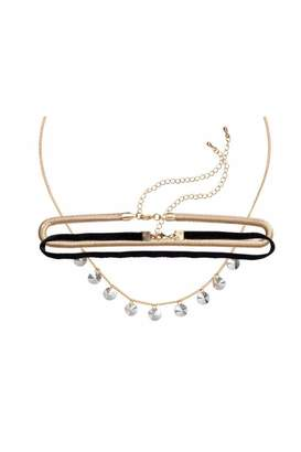 H&M 3-pack Chokers - Gold-colored/black - Women