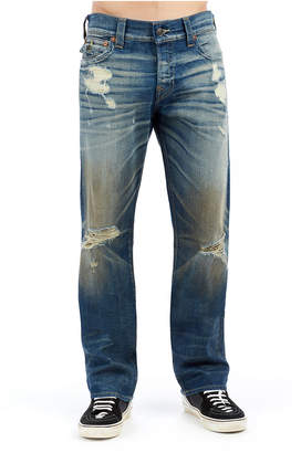 True Religion MENS DESTROYED SELVEDGE RICKY STRAIGHT JEAN