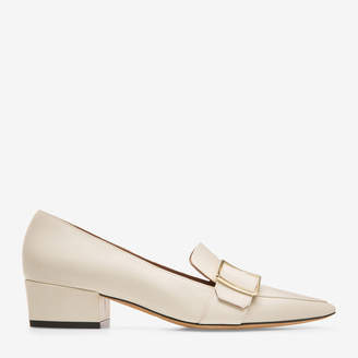 Bally Harumi White, Women's plain calf leather pump with 35mm heel in bone