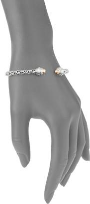 Charles Krypell Ivy Sterling Silver & 18K Rose Gold Cuff Bracelet