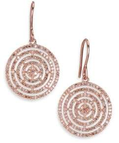 Astley Clarke Icon Aura Grey Diamond& 14K Rose Gold Drop Earrings