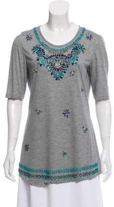 Emilio Pucci Beaded Short Sleeve T-Shirt