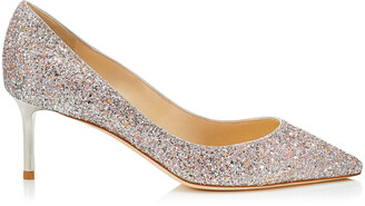 Jimmy Choo ROMY 60 Viola Mix Speckled Glitter Pointy Toe Pumps