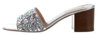 Valentino Crystal Slide Sandals
