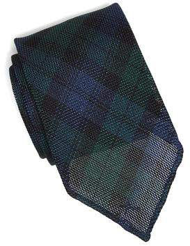 Drakes Drake's Navy Blackwatch Gabardine Tie
