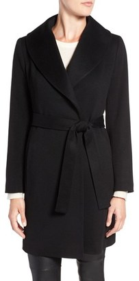 Women's Fleurette Shawl Collar Cashmere Wrap Coat $1,750 thestylecure.com