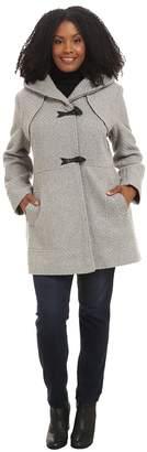 Jessica Simpson Plus Size Braided Wool Duffle Coat Women's Coat
