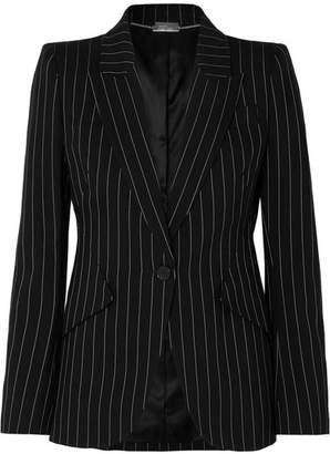 Alexander McQueen Pinstriped Wool-blend Blazer - Black