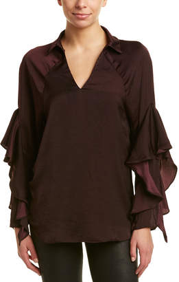 Elan International Ruffle Sleeve Top