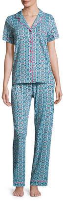 Rene Rofe PILLOW TALK BY Pillow Talk By 2-pc. Geometric Pant Pajama Set