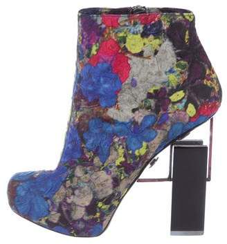 Nicholas Kirkwood x Erdem Printed Jacquard Ankle Boots