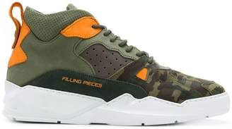 Filling Pieces low-top camouflage sneakers