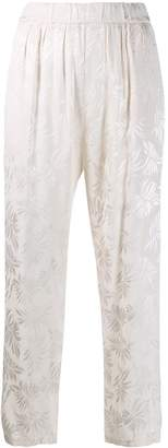 Guardaroba floral print trousers