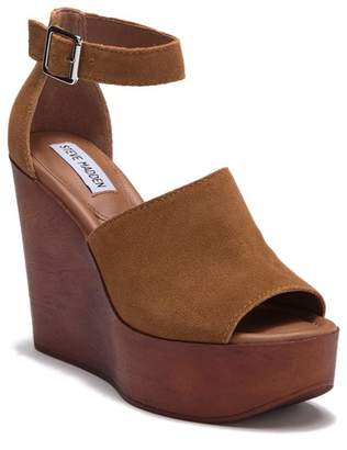 Steve Madden Prime Ankle Strap Wedge Platform Sandal