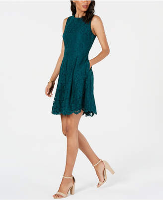 Vince Camuto Petite Lace A-Line Dress