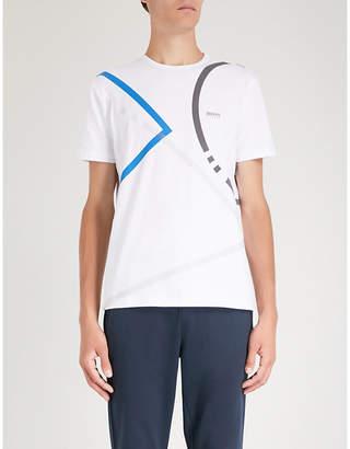 BOSS GREEN Graphic-print cotton-blend T-shirt