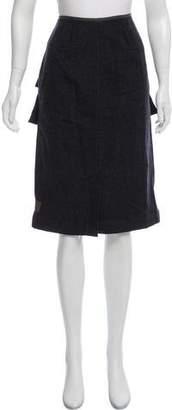 Dries Van Noten Wool-Blend Knee-Length Skirt