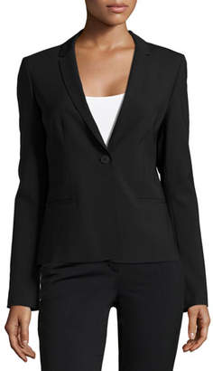 Elie Tahari Alma One-Button Jacket, Black