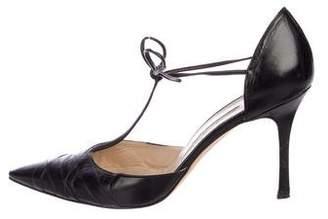 Manolo Blahnik Leather d'Orsay Pumps