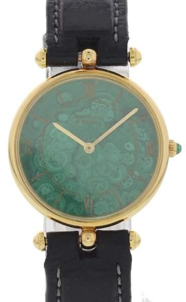 Van Cleef & ArpelsVan Cleef & Arpels H5178 18K Yelow Gold & Green Dial 27mm Womens Watch