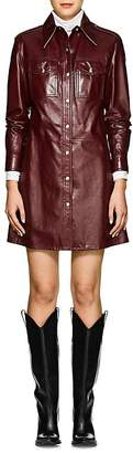 Calvin Klein Women's Leather Shirtdress