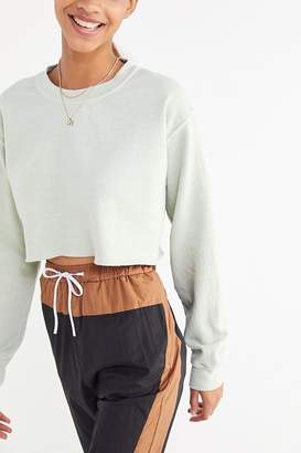 Project Social T Crew-Neck Cropped Sweatshirt