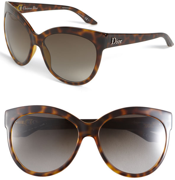 Christian Dior Rounded Cat's Eye Sunglasses