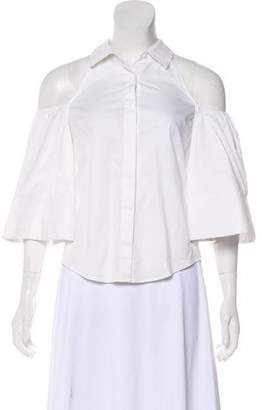 Alexis Cold Shoulder Button-Up Tops