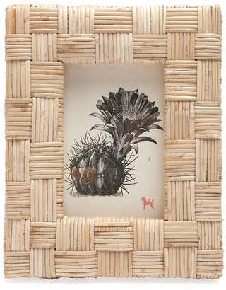 """Pigeon and Poodle Grasse Natural Cane Picture Frame, 4"""" x 6"""""""