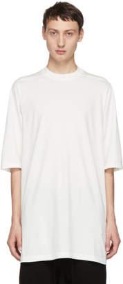 Rick Owens White Jumbo T-Shirt