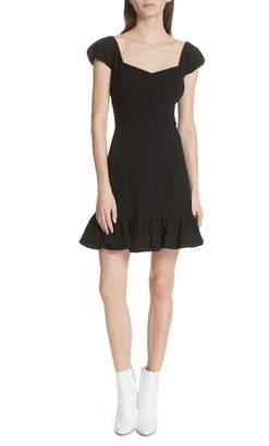 Rebecca Taylor Cap Sleeve Ruffle Hem Dress