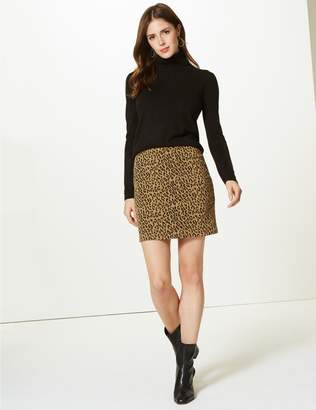 Marks and Spencer Animal Print A-Line Mini Skirt