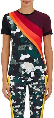 NO KA 'OI No Ka'Oi Women's Nana Camouflage-Colorblocked Microfiber T-Shirt
