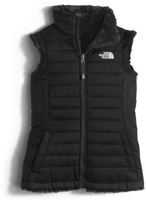 The North Face Girls' Reversible Mossbud Vest, Black, Size XXS-XL