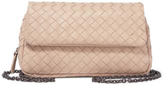 Bottega Veneta - Messenger Mini Intrecciato Leather Shoulder Bag - Beige $1,375 thestylecure.com