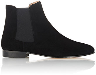 Barneys New York Women's Suede Chelsea Boots-BLACK $395 thestylecure.com