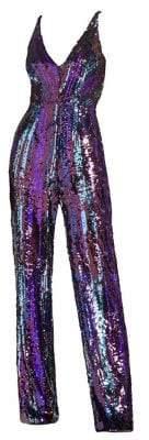 Dress the Population Charlie Sequin V-Neck Bodysuit
