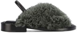 Robert Clergerie Bloss faux fur flat sandals