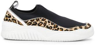 Just Cavalli leopard print contrast sneakers