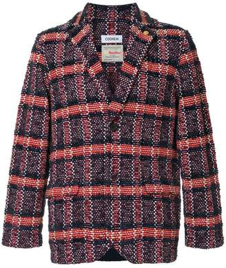 Coohem checked tweed jacket