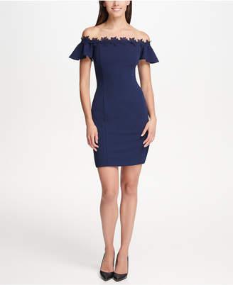 Kensie Solid Off the Shoulder Dress