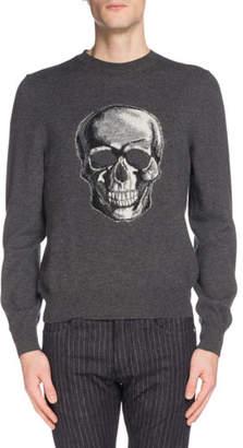 Alexander McQueen Men's Skull Graphic Wool Sweater
