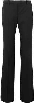 Alexander McQueen Grain De Poudre Wool Flared Pants - Black