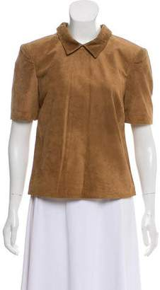 Lover Suede Bodice Short Sleeve Top