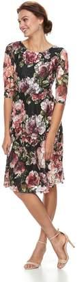 Petite Chaya Floral Print Lace Dress