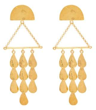 Sophia Kokosalaki Triangle Perseids Gold Plated Silver Earrings - Womens - Gold