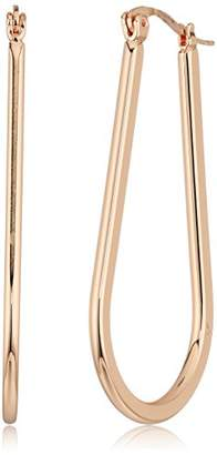 T Tahari Womens Essentials Oval Square Edge Hoop Earrings