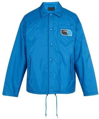 Prada Logo Embellished Jacket - Mens - Blue